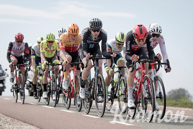 Sébastien Grignard (BEL/Lotto Soudal) leading teh breakaway group<br /> <br /> 55th Amstel Gold Race 2021 (1.UWT)<br /> 1 day race from Valkenburg to Berg en Terblijt; raced on closed circuit (NED/217km)<br /> <br /> ©kramon