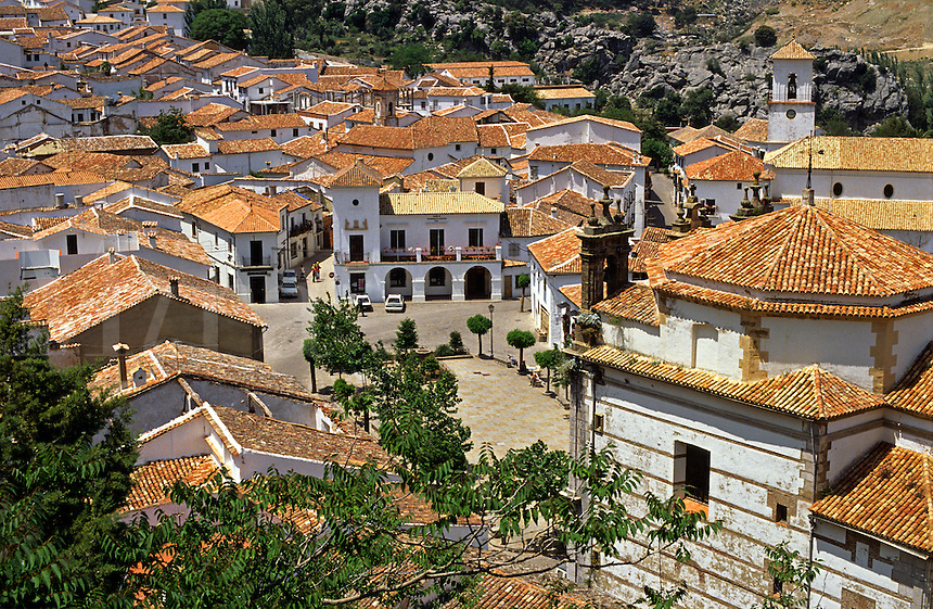 Spain. Andalucia/Andalusia. Grazalema.  One of the white towns.