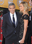 George Clooney and Stacy Keibler at the 18th Screen Actors Guild Awards held at The Shrine Auditorium in Los Angeles, California on January 29,2012                                                                               © 2012 Hollywood Press Agency