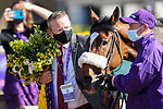 November 7, 2020 : Glass Slippers, ridden by Tom Eaves, wins the Turf Sprint on Breeders' Cup Championship Saturday at Keeneland Race Course in Lexington, Kentucky on November 7, 2020. Wendy Wooley/Breeders' Cup/Eclipse Sportswire/CSM