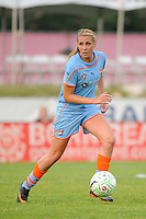 Allie Long (10) of Sky Blue FC. Sky Blue FC defeated the Atlanta Beat 1-0 during a Women's Professional Soccer (WPS) match at Yurcak Field in Piscataway, NJ, on June 22, 2011.