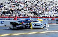 Feb. 9, 2012; Pomona, CA, USA; NHRA pro stock driver Rodger Brogdon during qualifying at the Winternationals at Auto Club Raceway at Pomona. Mandatory Credit: Mark J. Rebilas-