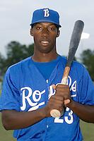 Burlington center fielder Patrick Norris (23) at Burlington Athletic Park in Burlington, NC, Sunday, August 26, 2007.