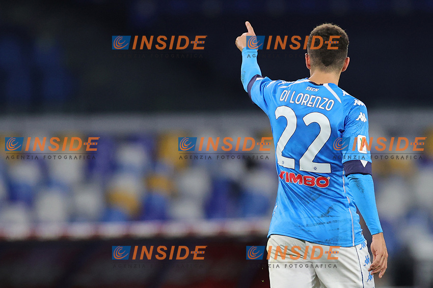 Giovanni Di Lorenzo of SSC Napoli celebrates after scoring a goal during the Italy Cup football match between SSC Napoli and Empoli FC at stadio Diego Armando Maradona in Napoli (Italy), January 13, 2021. <br /> Photo Cesare Purini / Insidefoto