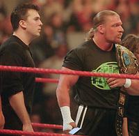 Shane McMahon Triple H 2000                                                             Photo By John Barrett/PHOTOlink