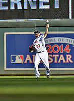 29 September 2012: Minnesota Twins outfielder Chris Parmelee in action against the Detroit Tigers at Target Field in Minneapolis, MN. The Tigers defeated the Twins 6-4 in the second game of their 3-game series. Mandatory Credit: Ed Wolfstein Photo