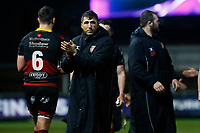 Gavin Henson of Dragons after the final whistle of the European Challenge Cup match between Dragons and Bordeaux Begles at Rodney Parade, Newport, Wales, UK. 20 January 2018