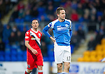 St Johnstone v Ross County...17.11.12      SPL.Steven MacLean looks on after hsi shot was cleared off the line.Picture by Graeme Hart..Copyright Perthshire Picture Agency.Tel: 01738 623350  Mobile: 07990 594431