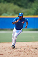 GCL Blue Jays right fielder Joseph Reyes (24) runs the bases during a game against the GCL Pirates on July 20, 2017 at Bobby Mattick Training Center at Englebert Complex in Dunedin, Florida.  GCL Pirates defeated the GCL Blue Jays 11-6 in eleven innings.  (Mike Janes/Four Seam Images)