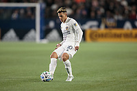 CARSON, CA - MARCH 07: Cristian Pavon #10 of the Los Angeles Galaxy passes off the ball during a game between Vancouver Whitecaps and Los Angeles Galaxy at Dignity Health Sports Park on March 07, 2020 in Carson, California.