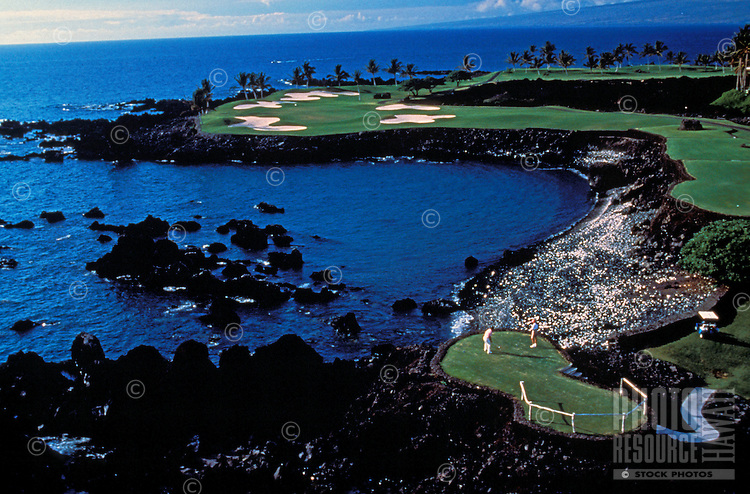 Maunalani golf course overlooking the ocean found on the Big Island of Hawaii