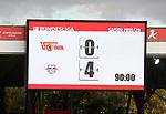 18.08.2019, Stadion an der Wuhlheide, Berlin, GER, 1.FBL, 1.FC UNION BERLIN  VS. RB Leibzig, <br /> DFL  regulations prohibit any use of photographs as image sequences and/or quasi-video<br /> im Bild Anzeigetafel mit dem Endergebnis<br /> <br />      <br /> Foto © nordphoto / Engler