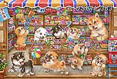Kayomi, CUTE ANIMALS, LUSTIGE TIERE, ANIMALITOS DIVERTIDOS, paintings+++++,USKH383,#ac#, EVERYDAY