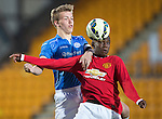 St Johnstone Academy v Manchester United Academy....17.04.15   <br /> Nathan Brown and Venancio Da Silva Monteiro<br /> Picture by Graeme Hart.<br /> Copyright Perthshire Picture Agency<br /> Tel: 01738 623350  Mobile: 07990 594431