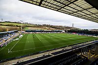 21st November 2020; Adams Park Stadium, Wycombe, Buckinghamshire, England; English Football League Championship Football, Wycombe Wanderers versus Brentford; A general view of and empty Adams Park due to the pandemic