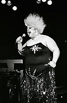 Divine at the Red Parrot Disco in New York City on January 1, 1983.