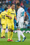 Real Madrid Carlos Henrique Casemiro and Villarreal Carlos Arturo Bacca during La Liga match between Real Madrid and Villarreal CF at Santiago Bernabeu in Madrid, Spain. January 13, 2018. (ALTERPHOTOS/Borja B.Hojas)