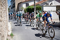 Green Jersey / points Mark Cavendish (GBR/Deceuninck - Quick Step) leader rolling through town<br /> <br /> Stage 13 from Nîmes to Carcassonne (220km)<br /> 108th Tour de France 2021 (2.UWT)<br /> <br /> ©kramon