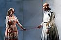 "English Touring Opera presents ""Ulysses' Homecoming"" at the Hackney Empire, prior to its UK tour. Picture shows: Martha Jones (Melanto), Adam Music (Eurymachus)"