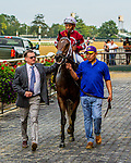 """OCT 03, 2021: Echo Zulu, ridden by Ricardo Santana, Jr., romps in the """"Win & You're In""""   Gr.1  Frizette Stakes, for 2 year old fillies, at Belmont Park, Elmont, NY.  Sue Kawczynski/Eclipse Sportswire/CSM"""