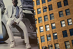 """Lafayette St / Prince St.<br /> From the """"Tall Figures"""" series. <br /> Manhattan, New York.<br /> © 2020 Thierry Gourjon"""