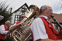Europe/France/Alsace/67/Bas-Rhin/ Marlenheim: Musiciens de la fanfare lors  de la Fête du Mariage de l'Ami Fritz