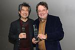 David Henry Hwang, Graham Sheffield CBE, Susan Stockton, NEFA - 2015 ISPA Awards