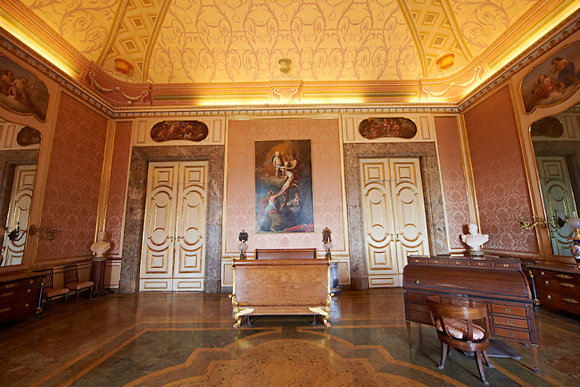 The Bedroom of Ferdinand II. The Kings of Naples Royal Palace of Caserta, Italy. A UNESCO World Heritage Site
