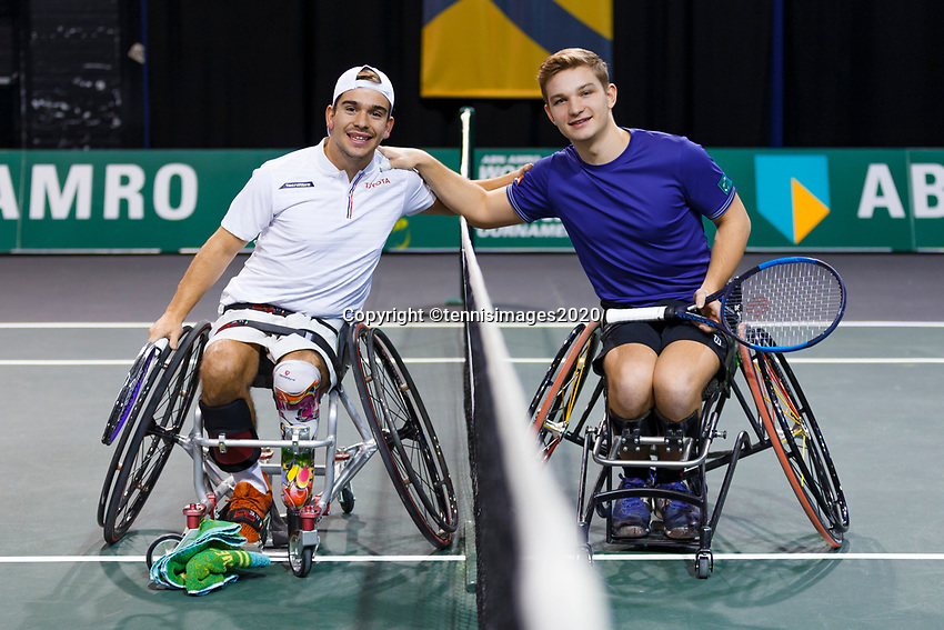 Rotterdam, The Netherlands, 12 Februari 2020, ABNAMRO World Tennis Tournament, Ahoy. Wheelchair: Martin De La Puente (ESP) vs Jef Vandorpe (BEL).<br /> Photo: www.tennisimages.com