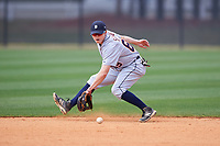 Detroit Tigers Will Savage (69) during practice before a minor league Spring Training game against the New York Yankees on March 22, 2017 at the Yankees Complex in Tampa, Florida.  (Mike Janes/Four Seam Images)