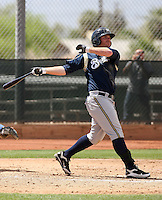 Mat Gamel of the Milwaukee Brewers plays in a spring training game against the Los Angeles Dodgers at the Brewers complex on April 2, 2011 in Phoenix, Arizona. .Photo by:  Bill Mitchell/Four Seam Images.