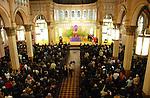 Parishioners attending service at Transfiguration R.C. Church  in Williamsburg Brooklyn, New York on Sunday, April 5, 2009.