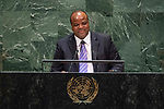 General Assembly Seventy-fourth session, 5th plenary meeting<br /> <br /> His Majesty King Mswati III, Head of State, Kingdom of Eswatini