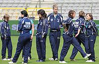 15 Mei 2010 Bekerfinale vrouwen : Sinaai Girls - RSC Anderlecht  : voor de wedstrijd met oa Justine Vanghaevermaet.foto DAVID CATRY / Vrouwenteam.be