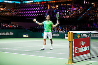 Rotterdam, The Netherlands, Februari 8, 2016,  ABNAMROWTT, Jiri Vesely (CZE), Fly Emirates<br /> Photo: Tennisimages/Henk Koster