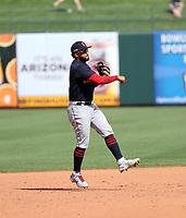 Aaron Bracho - Cleveland Indians 2021 spring training (Bill Mitchell)