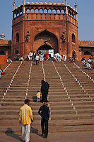 Steps leading up to a Mausoleum in New Delhi, India.