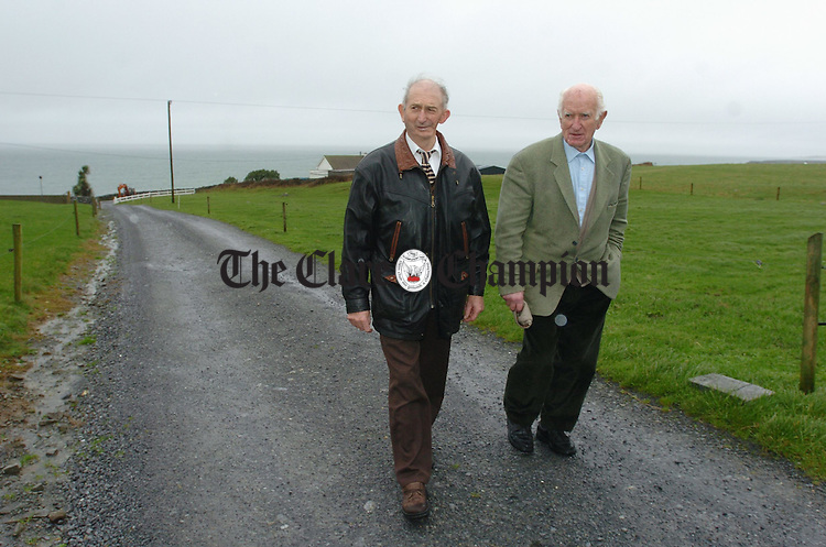 IFA men Michael O Donoghue of Tuber and Billy O Driscoll of Fanore. Photograph by John Kelly.