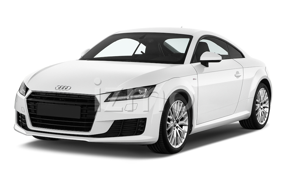 2015 Audi TT Coupe S Line 3 Door Coupe Angular Front stock photos of front three quarter view