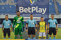 BARRANCABERMEJA - COLOMBIA, 03-03-2019: Alianza Petrolera y Deportes Tolima en partido por la fecha 9 como parte de la Liga BetPlay DIMAYOR I 2021 jugado en el estadio Daniel Villa Zapata de la ciudad de Barrancabermeja. / Alianza Petrolera and Deportes Tolima in match for the date 9 as part of BetPlay DIMAYOR I 2021 Liga played at Daniel Villa Zapata stadium in Barrancabermeja city. Photo: VizzorImage / Jose Martinez / Cont