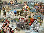 ,LANDSCAPES, LANDSCHAFTEN, PAISAJES, LornaFinchley, paintings+++++,USHCFIN0132,#L#, EVERYDAY ,vintage,stamps,puzzle,puzzles