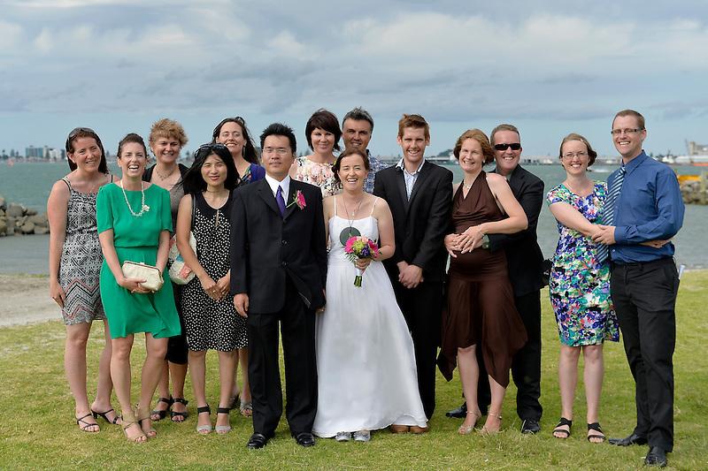 Nicola & Tetsurou's Wedding, Tauranga, New Zealand on Friday 3 January.<br /> Photo by Masanori Udagawa.<br /> www.photowellington.photoshelter.com.