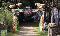 Pictured: The Welcome to Colour Me Wild entrance Saturday 13 August 2016<br />
