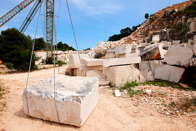 Famous stone quaries of Bra? island, Croatia