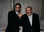 """MAURIZIO COSTANZO E FIORELLO<br /> CONFERENZA STAMPA """"BUONA DOMENICA""""<br /> CASINA VALADIER ROMA 1996"""