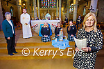 Presentation Secondary School Tralee hold a special Presentation Day service in St Johns Church on Tuesday. Front right: Chrissie Kelly (Principal). Kneeling l to r: Julia Szarota, Grave Kearney and Aoife Hickey with Fr Sean Jones and Sr Maureen.