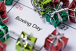 26th of December calendar card