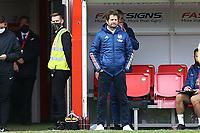 Arsenal manager Joe Montemurro during Brighton & Hove Albion Women vs Arsenal Women, Barclays FA Women's Super League Football at Broadfield Stadium on 11th October 2020
