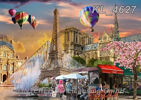 Interlitho-Franco, LANDSCAPES, LANDSCHAFTEN, PAISAJES, paintings+++++,paris,KL4627,#l#, EVERYDAY ,puzzle,puzzles