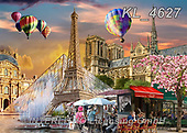 Interlitho-Franco, LANDSCAPES, LANDSCHAFTEN, PAISAJES, paintings+++++,paris,KL4627,#l#, EVERYDAY ,puzzle,puzzles